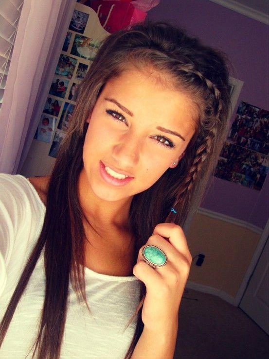 sleek straight hair with bangs braided   -Lovely Locks ...