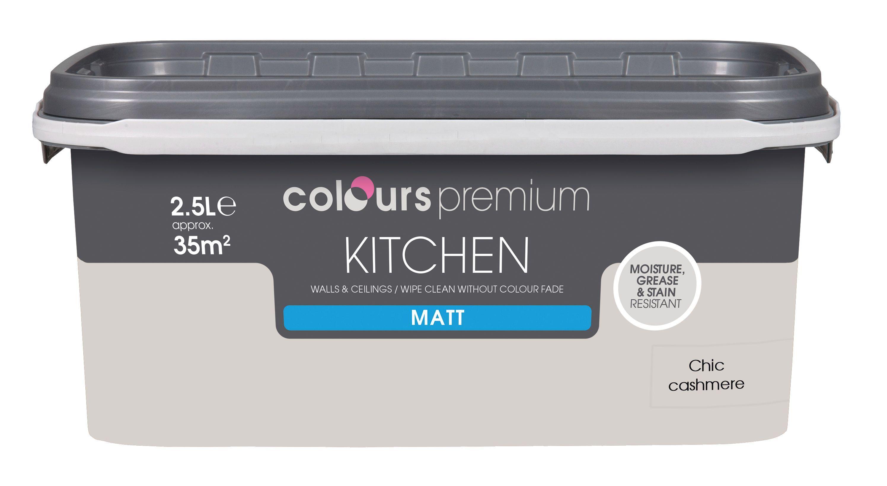 Enjoyable Colours Kitchen Chic Cashmere Matt Emulsion Paint 2 5L Home Interior And Landscaping Spoatsignezvosmurscom