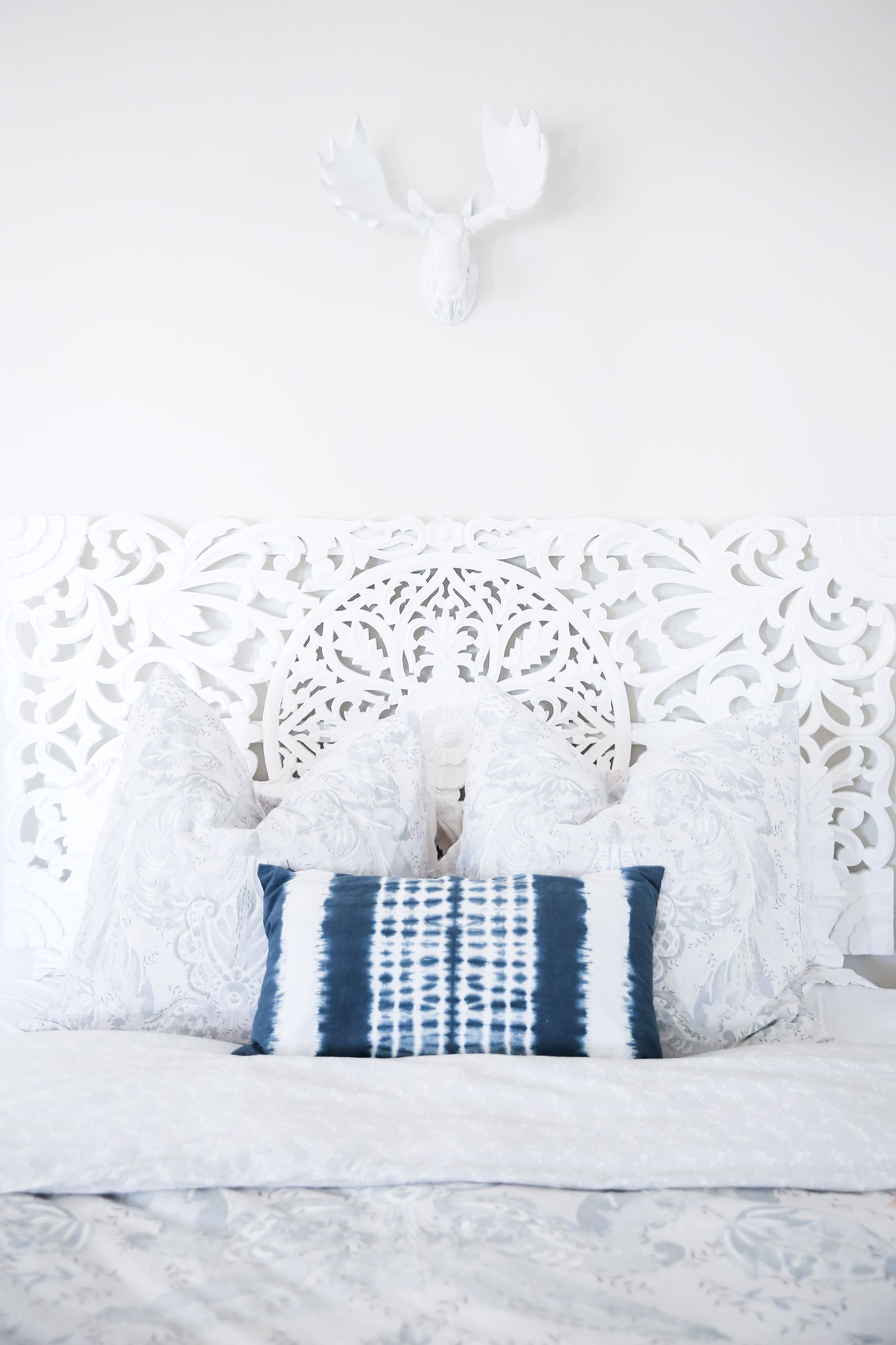 Bedroom Before And After Makeover Boho Bohemian Light Bright Home Decor Apartment Urban Outfitters Headboard