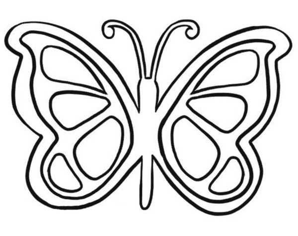 Simple Butterfly Coloring Pages For Kids 61 Butterfly Butterfly Coloring Pages