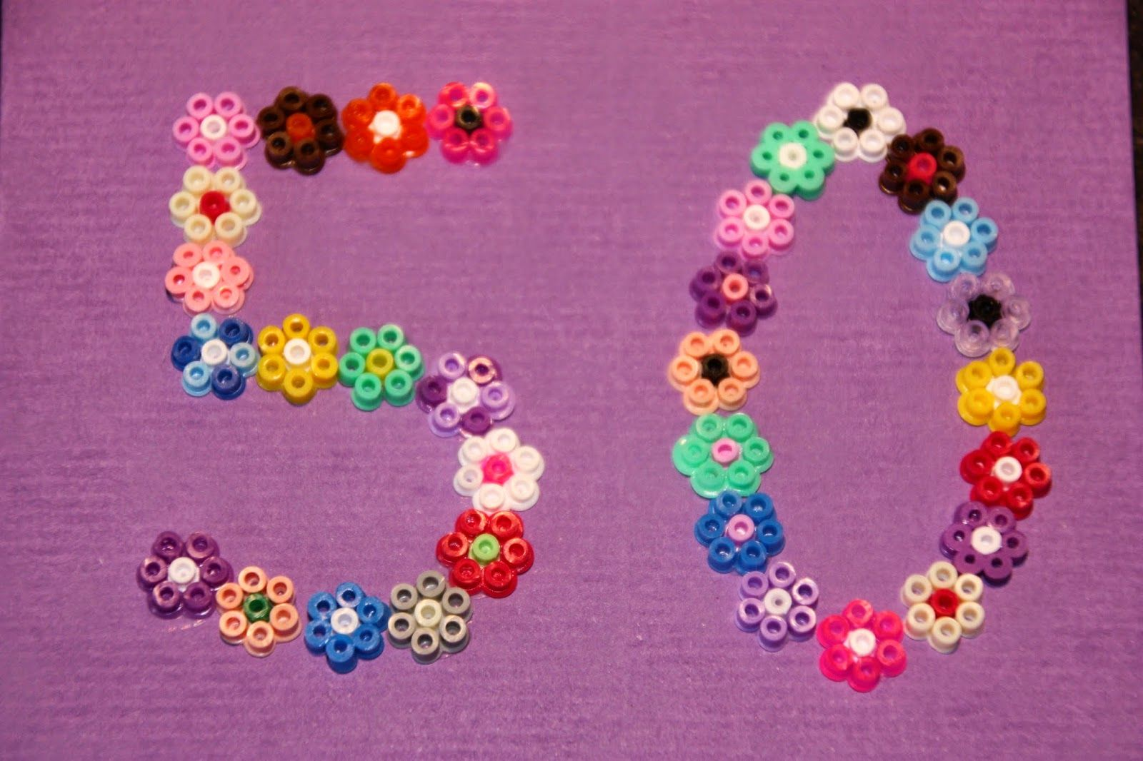 Floral numbers hama mini beads by KRiisKrads