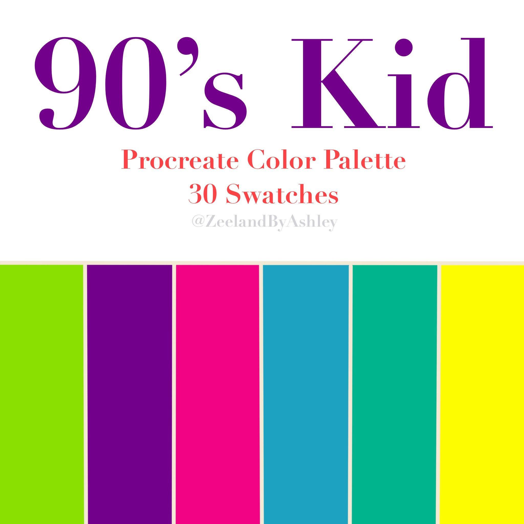 Retro Randomness of the 80s /& 90s Printable His Palette