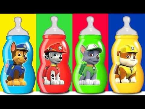 374889a735 Paw Patrol Baby Bottle Wrong Heads, Learn Colors with Paw Patrol - YouTube