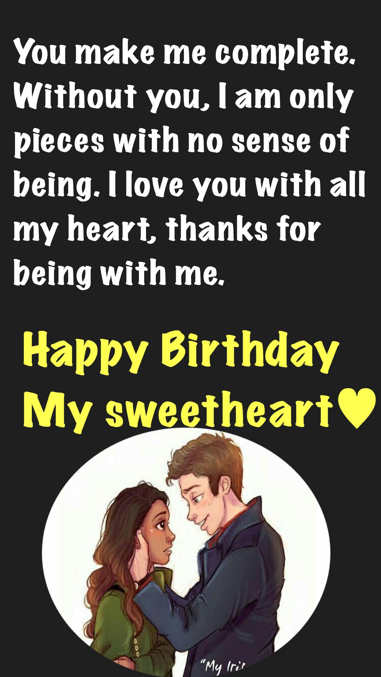 Happy Birthday My Sweetheart Birthday Wishes For Wife Happy Birthday My Wife Happy Birthday Love