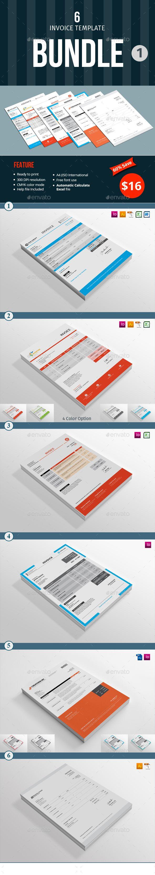 Invoice Template Bundle 1 Template Font Logo And Logos