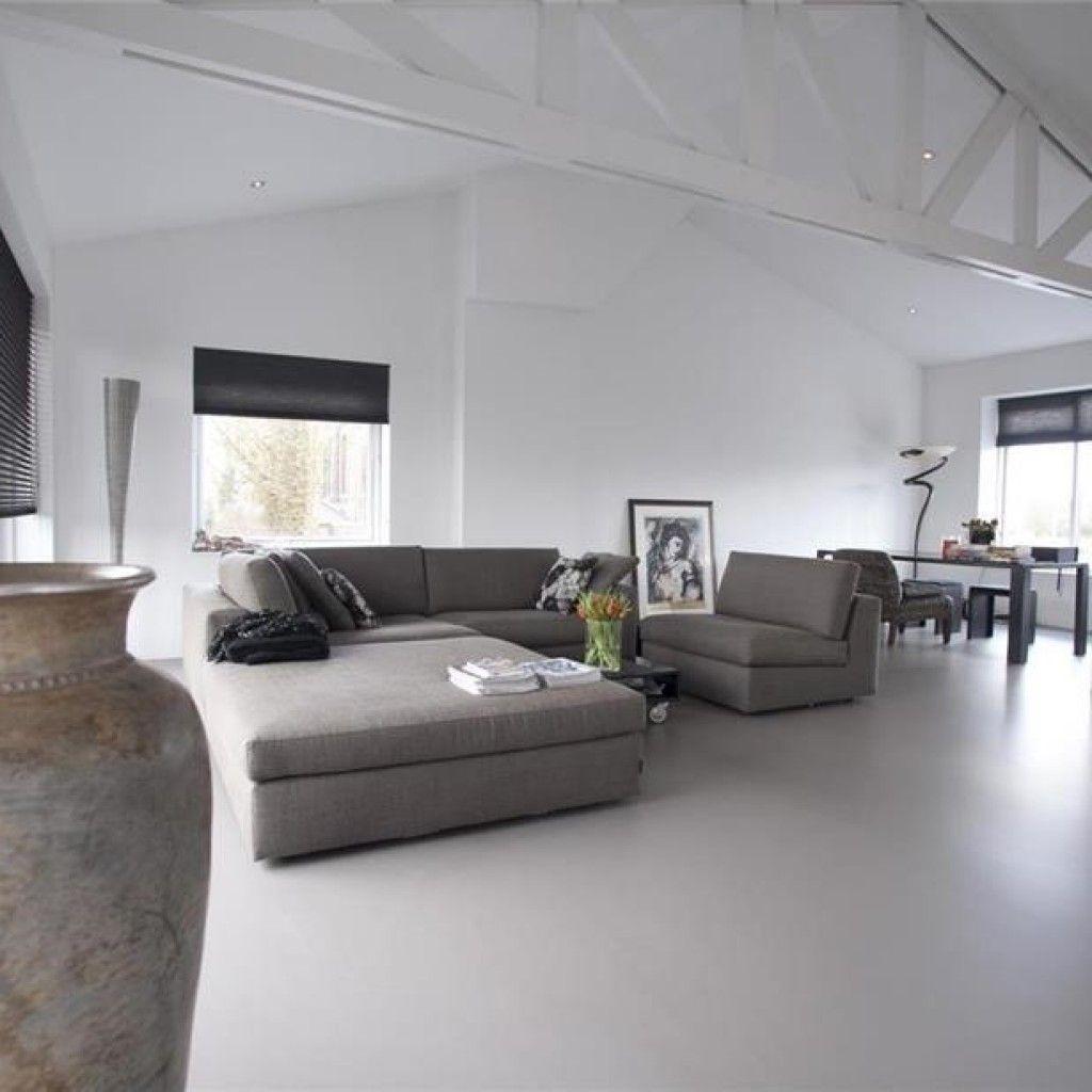 Gietvloer in woonkamer | CMI | Vloeren | Pinterest