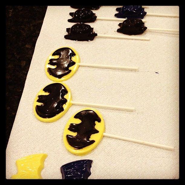 Batman lollipops I made for my son's birthday!