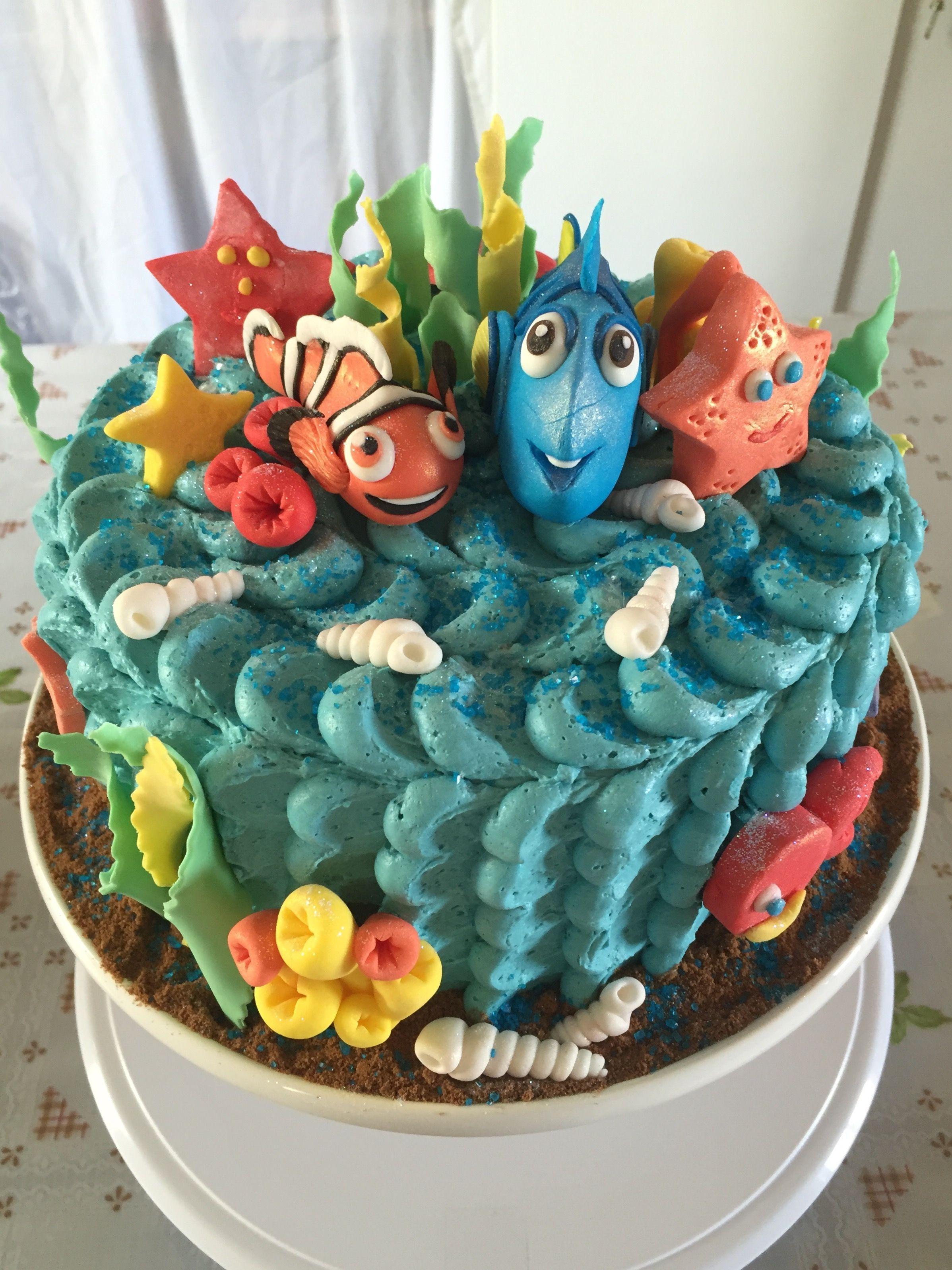 Dory and nemo cake nemo cake red cake cake
