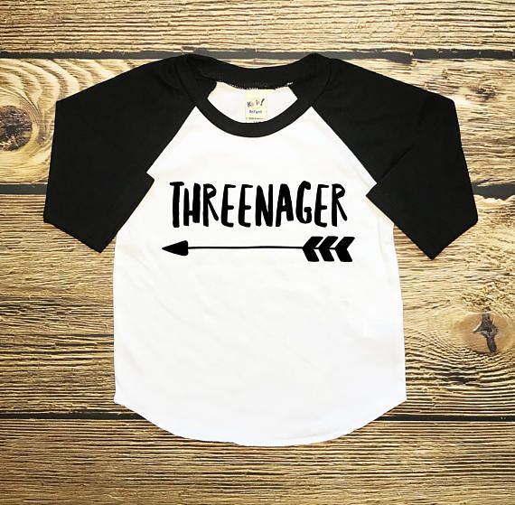 Threenager Shirt Third Birthday 3 Year Old Affiliate