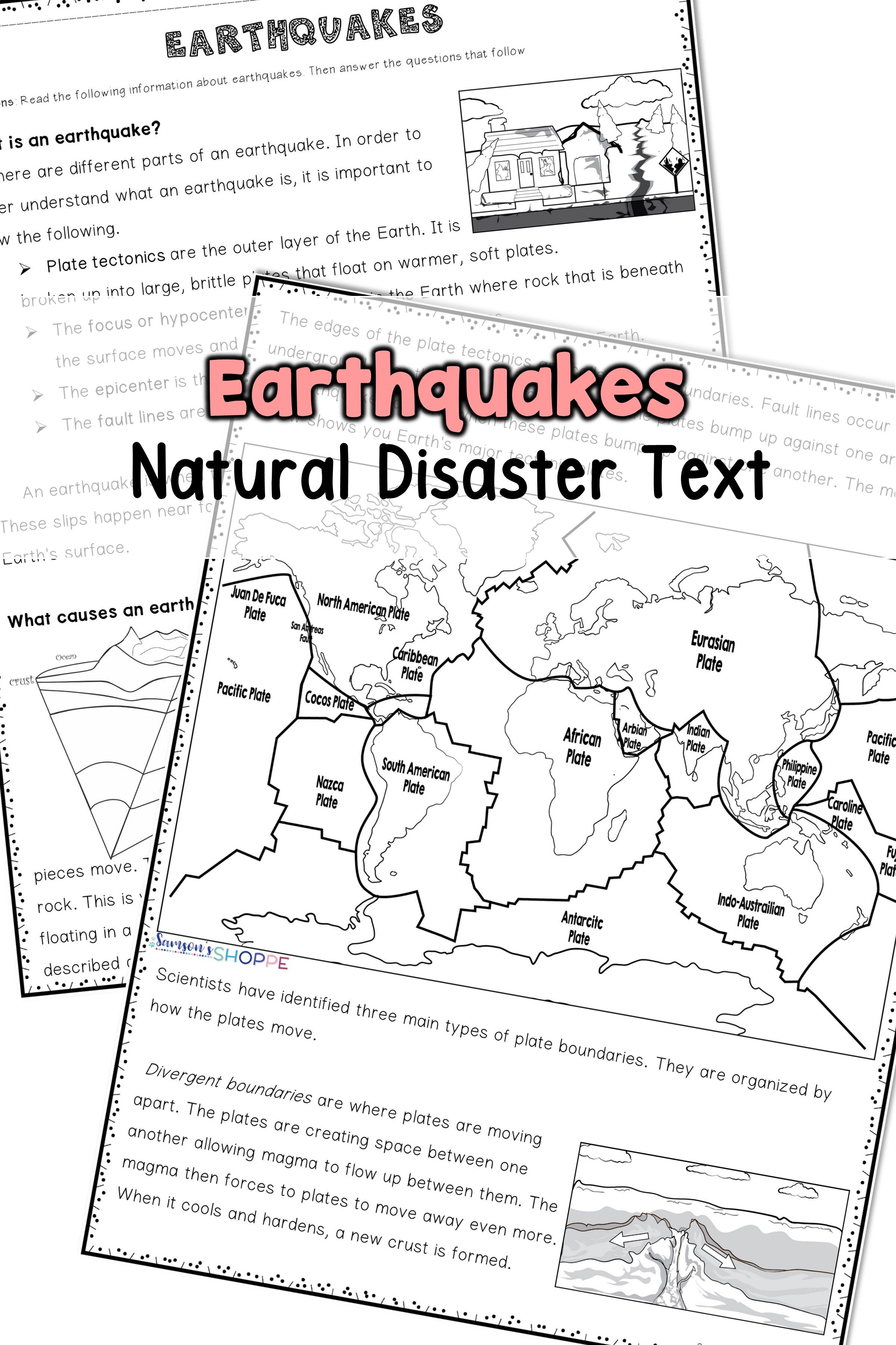 Earthquake Nonfiction Article And Activity