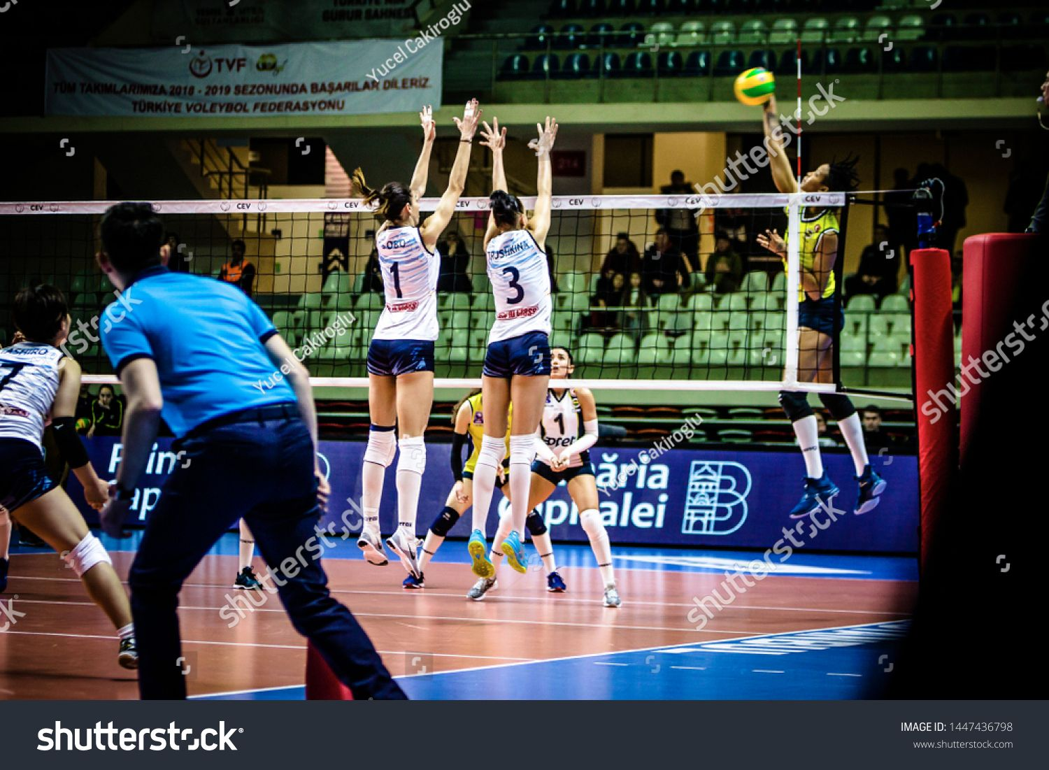 Istanbul Turkey January 23 2019 Match Played Between Fenerbahce Opet Istanbul And C S M Bucuresti At Burhan Felek Sport In 2020 Sport Hall Sports Champions League