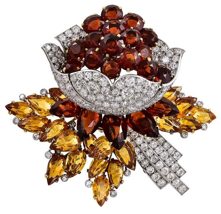 Cartier Diamond And Citrine Flower Brooch | Products in 2019