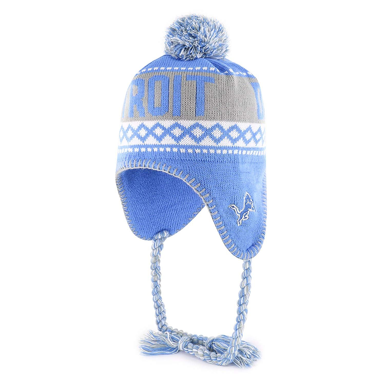 new product d6a2a e89a4 NFL Detroit Lions Adult NFL Abenaki Ots Sherpa Knit Cap with Pom,  28.00