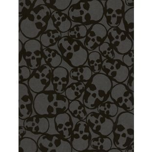 Barbara Hulanicki Skulls Wallpaper Midnight From Homebase Co Uk