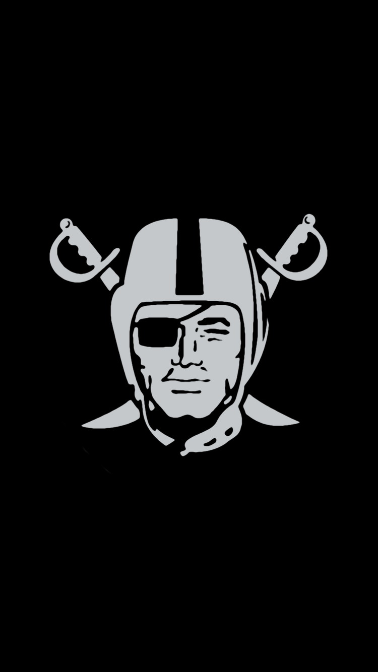 Quot Minimalistic Quot Nfl Backgrounds Afc West Oakland Raiders Logo Oakland Raiders Football Nfl