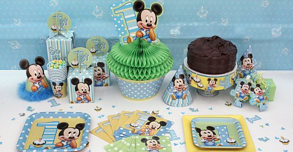 Mickey mouse 1st birthday party supplies birthday ideas for Baby mickey decoration ideas