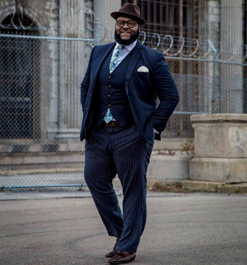Big  amp  Tall  11 Dapper and Stylish Plus Size Men on Instagram You Should 187621715bc0