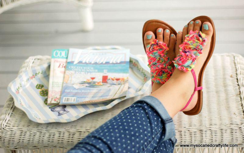 561e07a49b2c7 Easy DIY Floral Summer Sandals