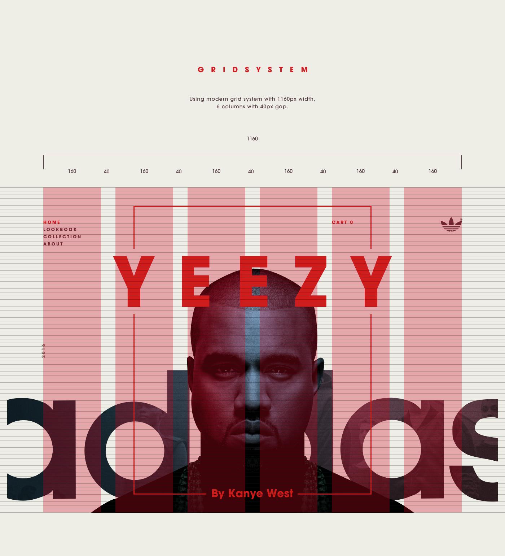 Adidas Yeezy Microsite By Roland Hidvegi Design Ideas In 2020 Design Yeezy Adidas Yeezy