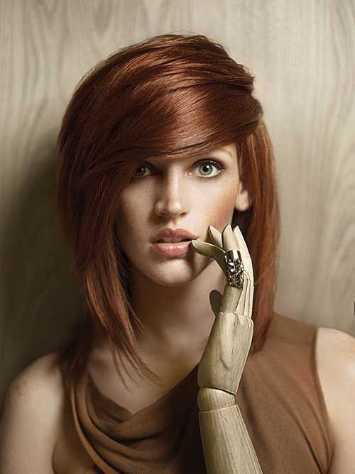 Bakır Kızıl Kısa Saç Renkli Saç Modelleri Hair Hair Color Ve