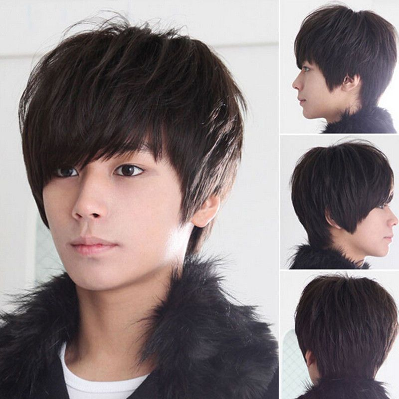 591 Fashion Cool Boys Korean Hair Wig Mens Male Short Hair