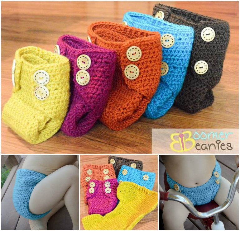 Crochet Nappy Cover!