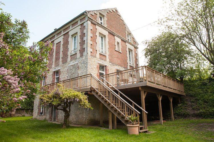 Rénovation d\u0027une maison en briques - Pierrefonds (60) Terrasses - Terrasse Bois Pilotis Prix
