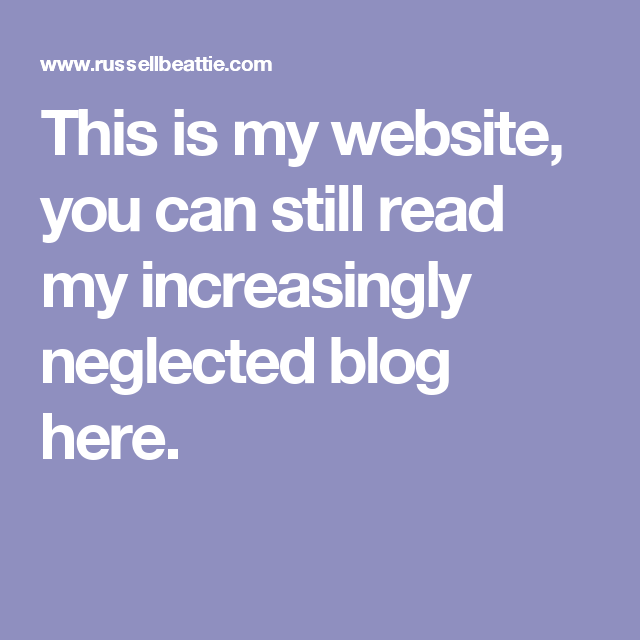 This is my website, you can still read my increasingly neglected blog here.