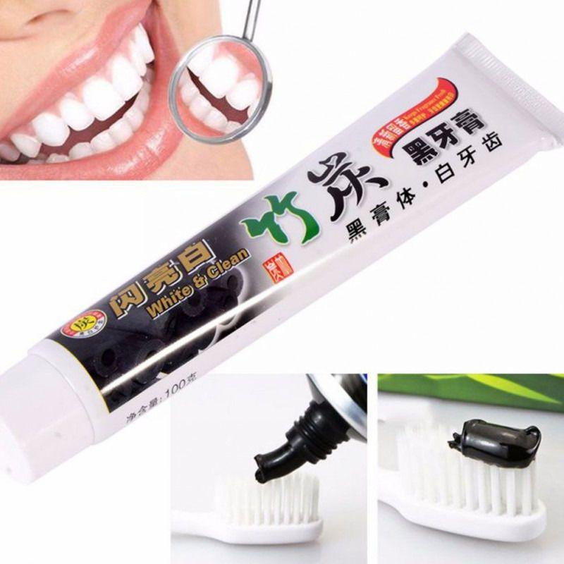 Nova Chegada 100g de Carvão de Bambu para Todos Os fins-Teeth Whitening O Creme Dental Preto 1 PCS