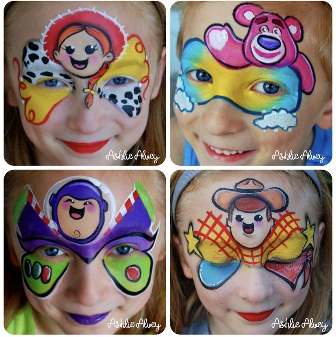 Toy Story Maquillaje De Fantasia Infantil Pintura Cara Ninos Pintura Para Cara Ninos