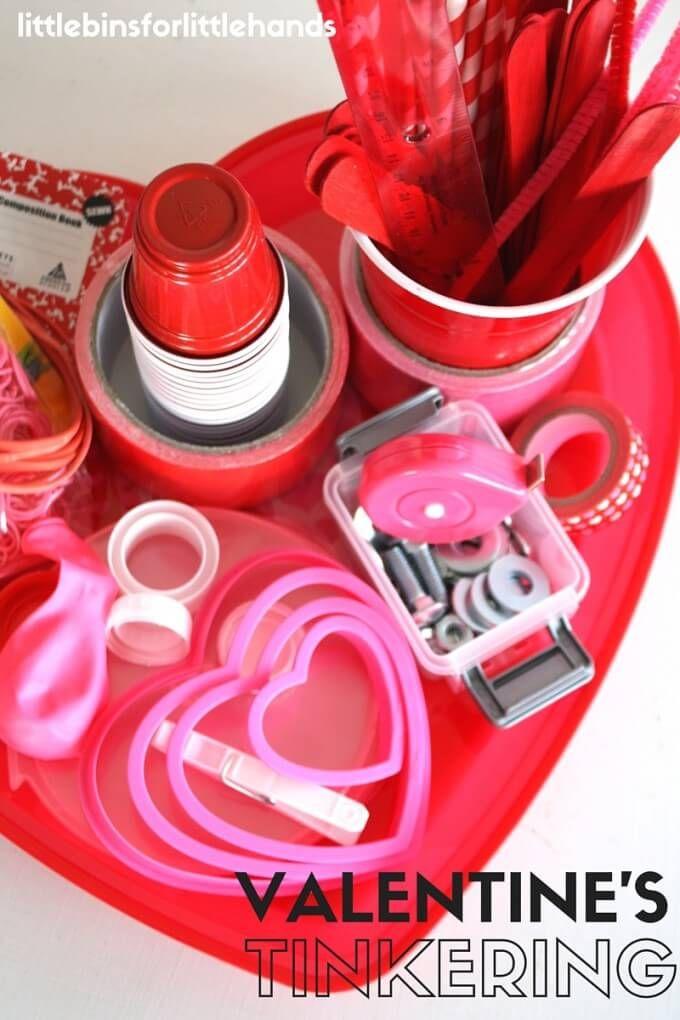 Valentines Day Tinker Tray STEM Activity for Kids | Trays, Stem ...