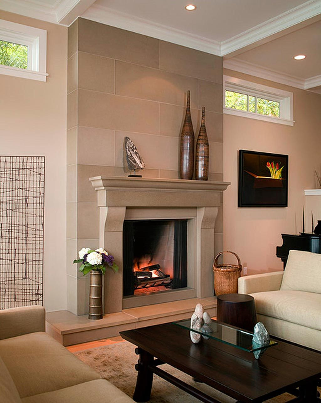 fireplace-surround-ideas-Modern-fireplace-cornice-cast-concrete ...
