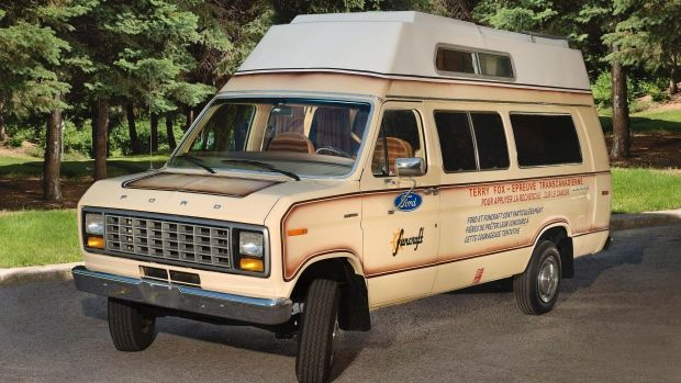The Beige Econoline Camper Van Shown In A Recent Photo That