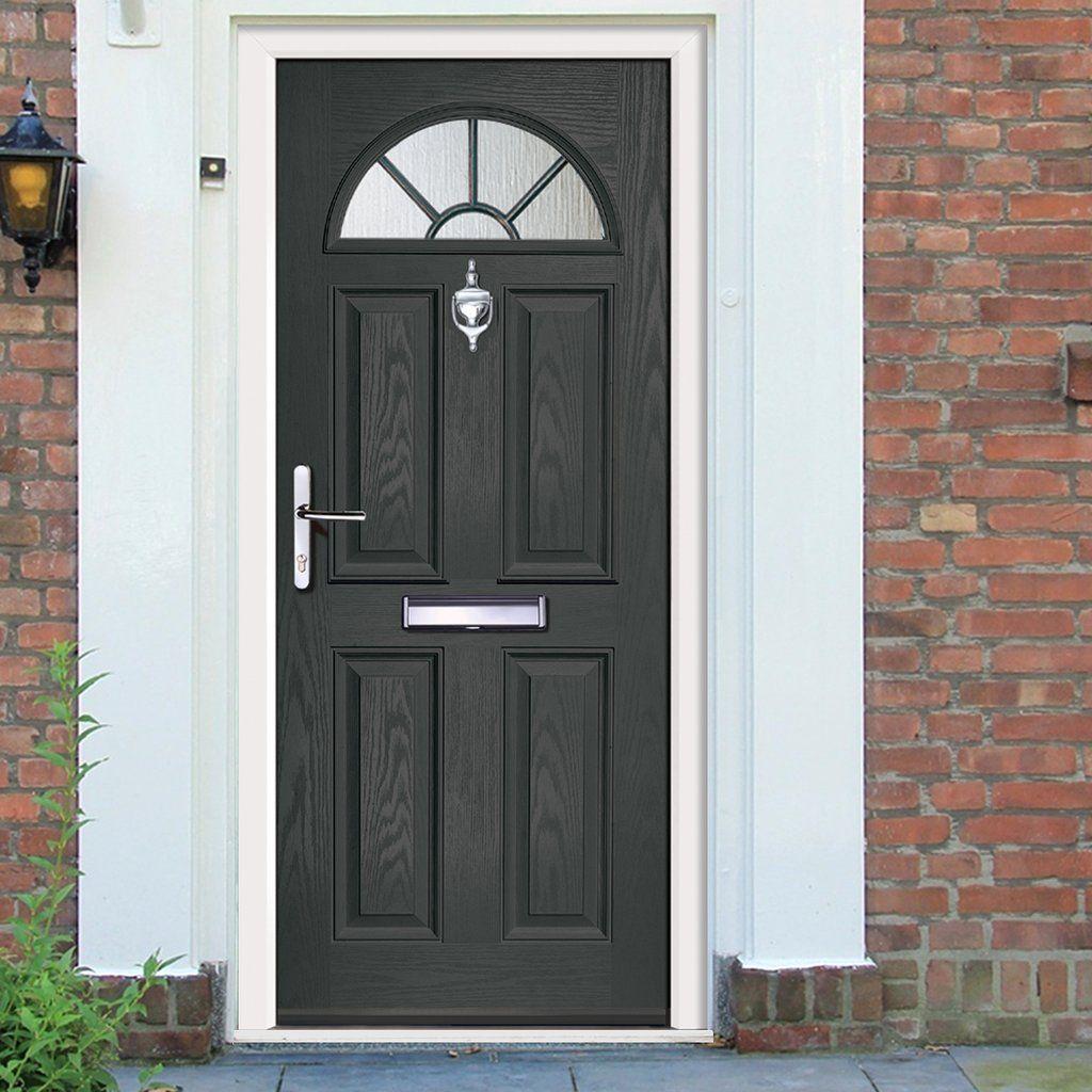 Exterior Virtuoso Chilton One Grill Composite Door, shown in ...