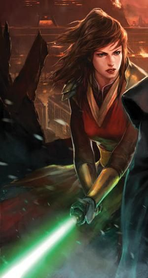 Jedi Master Satele Chan from Star Wars the Old Republic cover