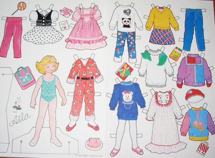 Suomalaisia paperinukkeja/Finnish paper doll sheets. - PaperiCecilia - Picasa Webalbum