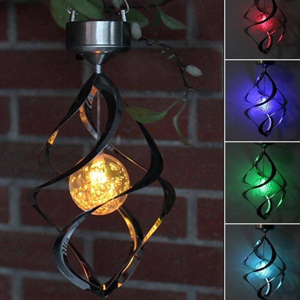 Photo of LED Color Changing Solar Wind Chime Light – LED Color Changing Solar Wind Chime Light