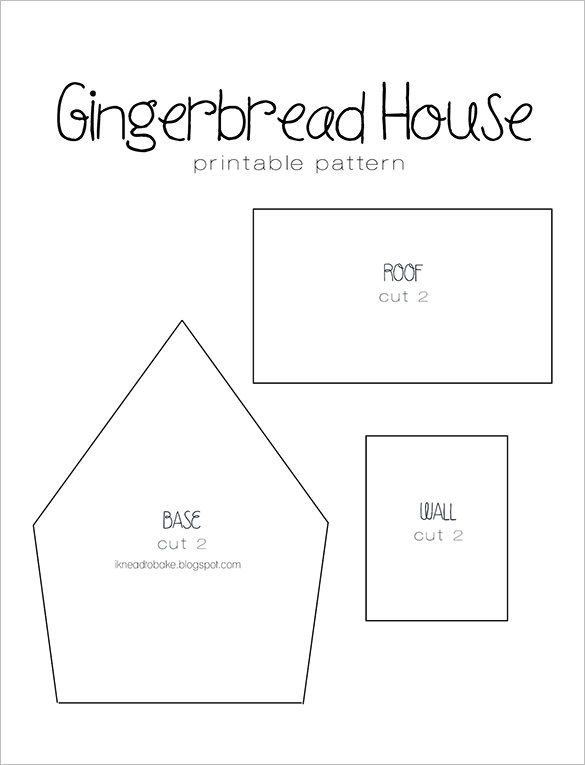 gingerbread house roof template  5+ Gingerbread House Templates - Free PDF Document Formats ...