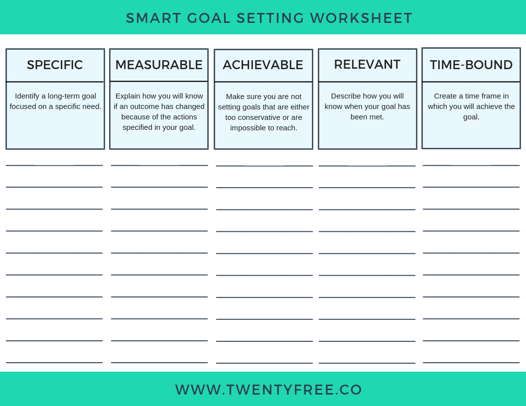 6 Simple Smart Goal Templates To Make Goal Setting