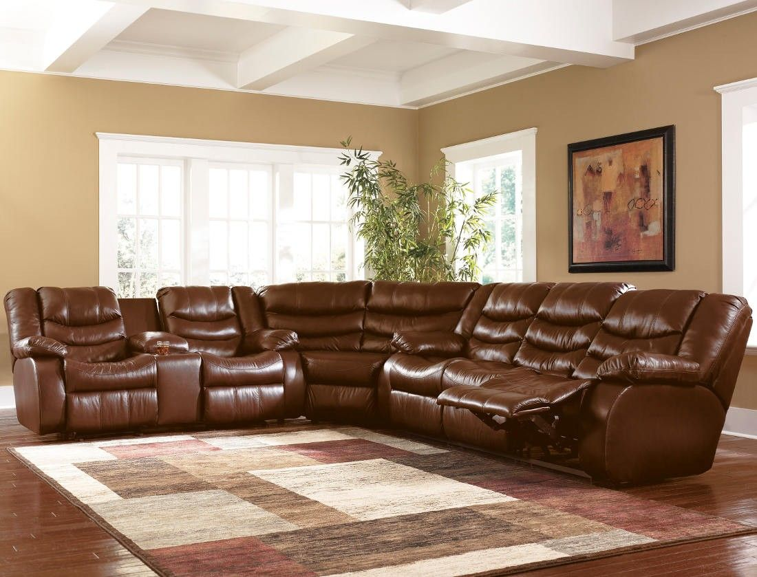 Revolution - Saddle Reclining Sofa Sectional by Ashley Millennium : quality leather sectionals - Sectionals, Sofas & Couches