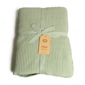 Plaid Dille En Kamille.Plaid 130 X 170 Cm Coton Vert Dille Kamille