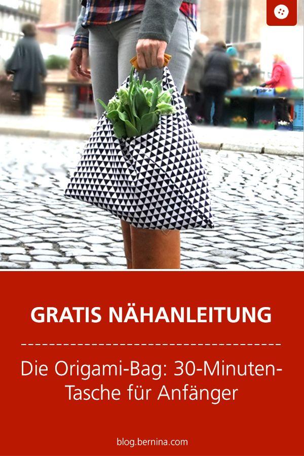 Die Origami-Bag: 30-Minuten-Tasche für Anfänger #bag