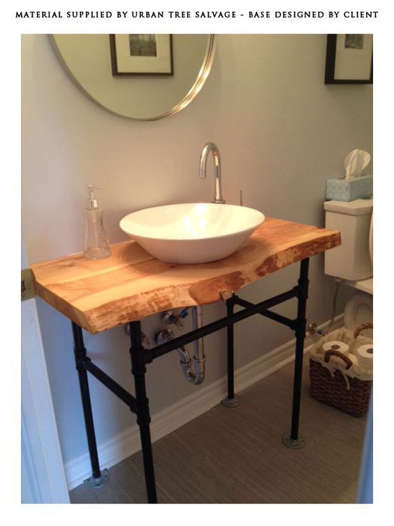 Raw Wood Vanity Top Solid Wood Salvaged And Reclaimed Raw Edge