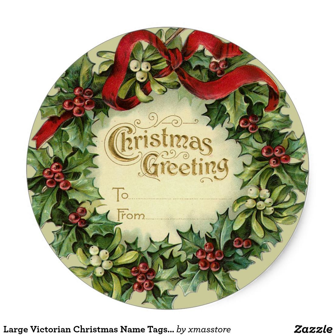 Large Victorian Christmas Name Tags for Gifts | Card Making ...