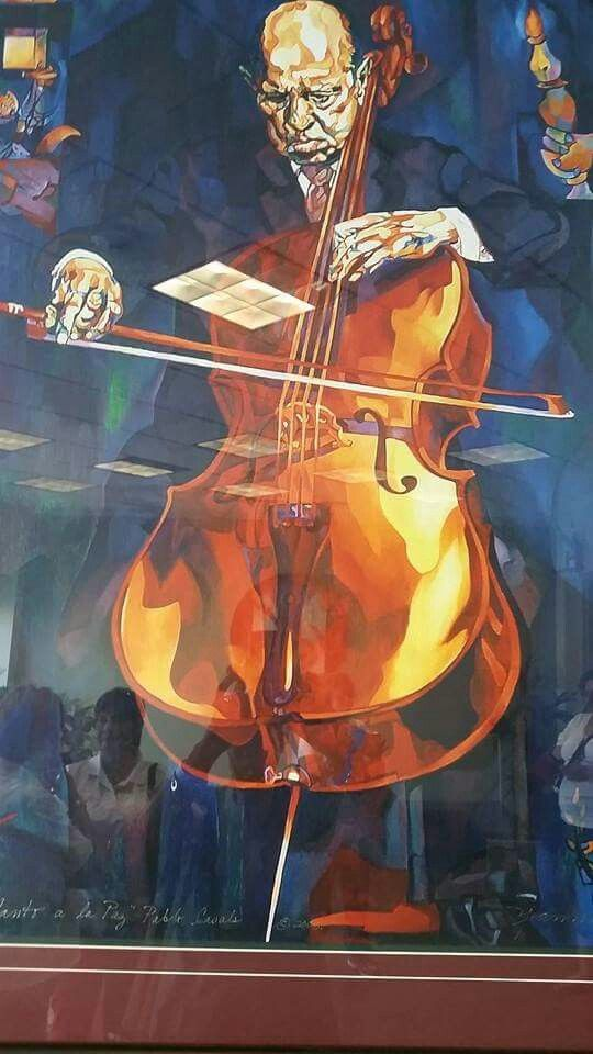 Casals Music Art Painting Cello Art Art Music
