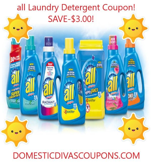 all laundry detergent coupon save 3 00 domestic divas coupons