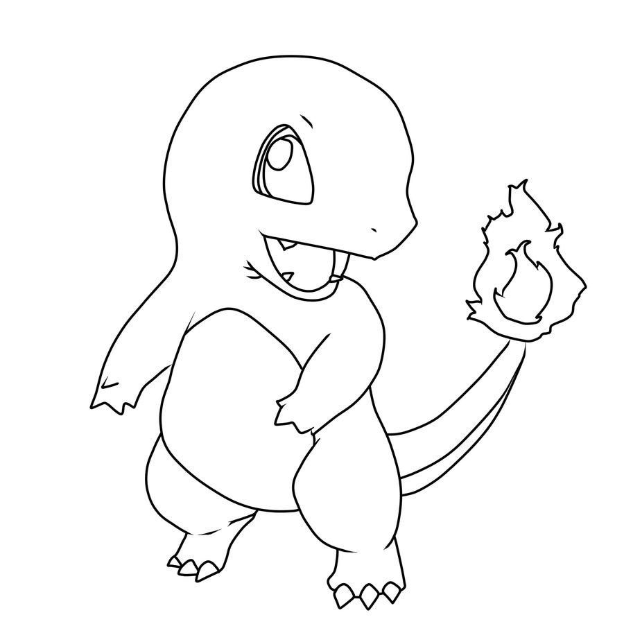 kleurplaat charmander pokemonkleurplaten http www