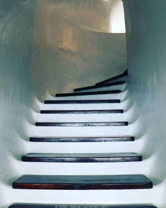 Stairs inside the 'Mirador del Rio' Lanzarote, Canaries Islands  Architect C. Manrique  More photos on www.vise.pictures  #miradordelrio #Manrique #design #architecture #stairs #contemporary #canariesislands #islascanarias #ig_canaryislands #ig_Canarias #ig_lanzarote #pictures #topvise #photo #original