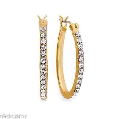 57e166dba7feb Lauren Ralph Lauren Oval Crystal Hoop Earring ( 1 Missing ...
