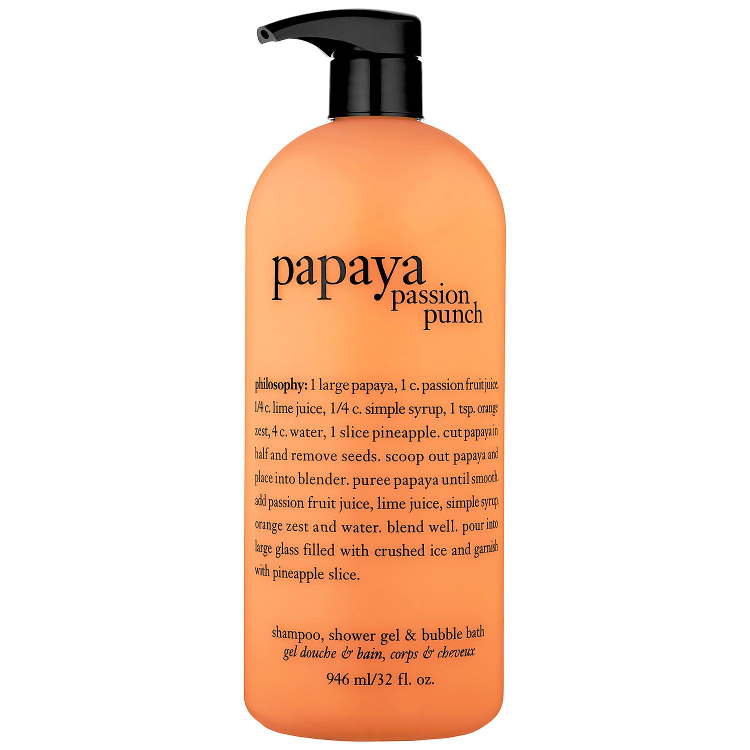 Philosophy Papaya Passion Punch Shampoo Shower Gel u Bubble Bath